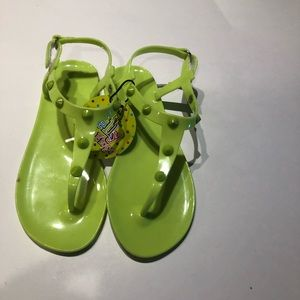 ⚡️big girls size 1/2 jelly flip flop green neon